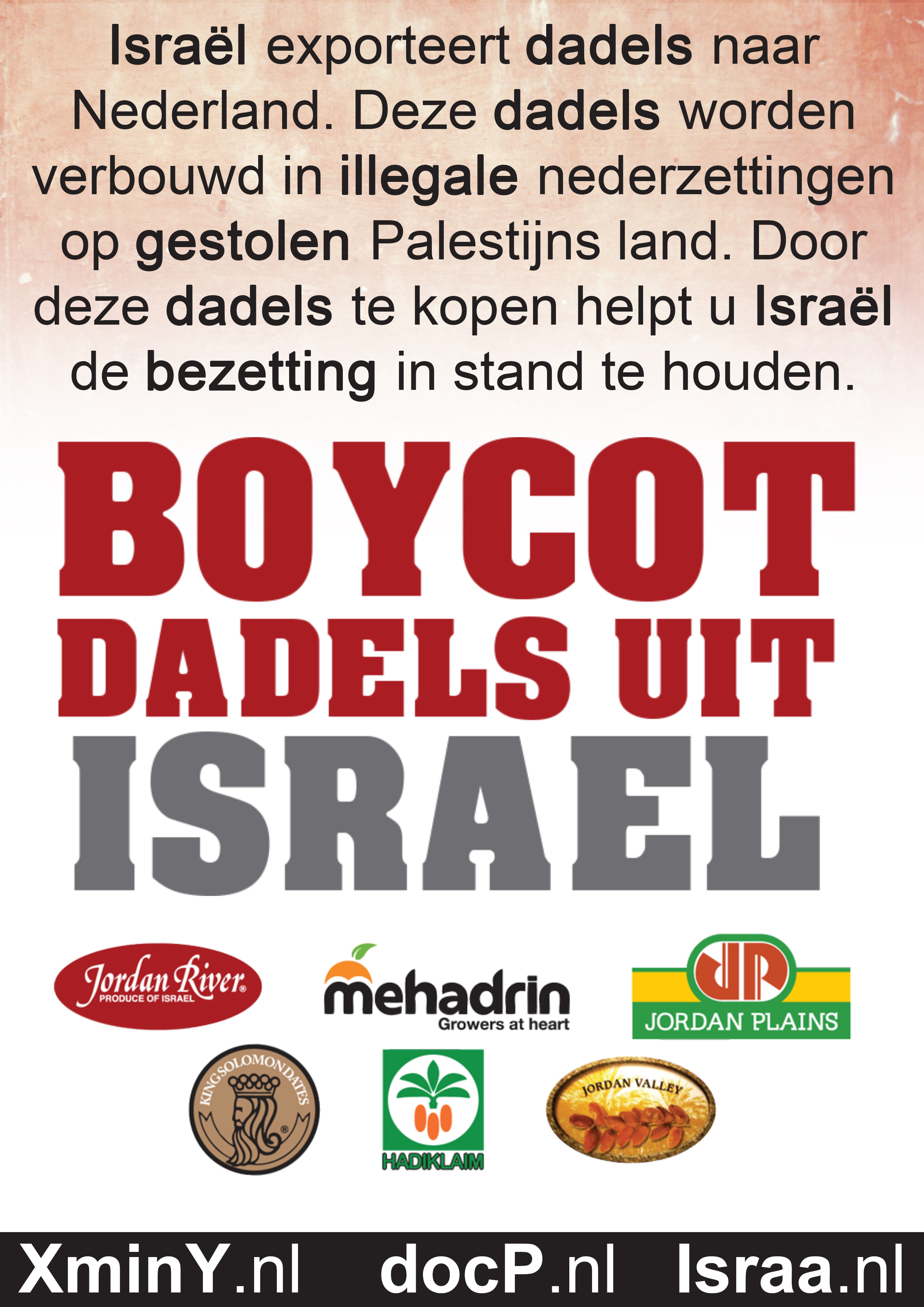 Boycott Israeli Dates Flyer 2013