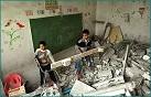 school gebombardeerd klein