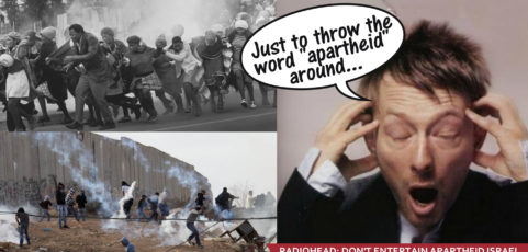 Flyeractie: Radiohead, you don't belong in apartheid Israel!