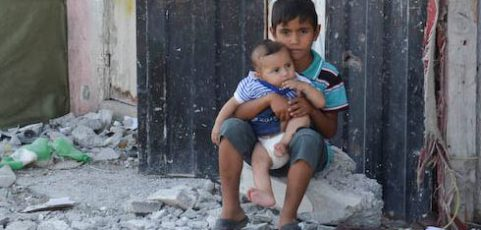 Voor de kinderen van Gaza naar het Strafhof in Den Haag
