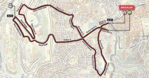 Giro artikel plaatje route door Jeruzalem groot
