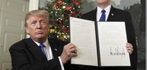 Demonstratie tegen Trump's Jeruzalembesluiten